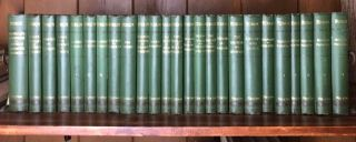 [John Ruskin] Extremely Scarce 25 Volume Set in Original Publisher's Cloth. John Ruskin.