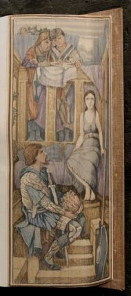 [Burne-Jones, Edward- Fore-Edge Painting] Poems of Tennyson. Alfred Lord Tennyson.