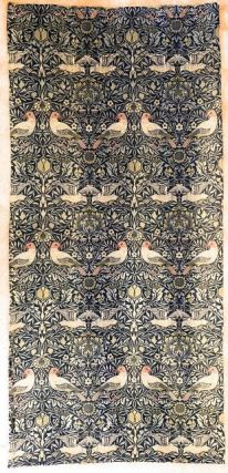 "[Morris & Co.- Original Wall Furnishing] Original Wall Covering As the One in Morris' Kelmscott House Drawing Room: The ""Bird"" Pattern of Jacquard-woven Wool, designed by William Morris for Morris. William Morris."