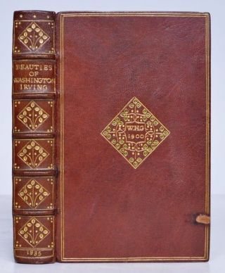 [Binding, Fine- Sylvia Stebbing] The Beauties of Washington Irving. Washington Irving.