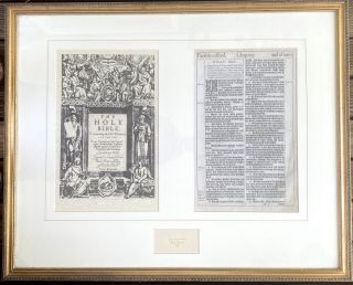"""[Holy Bible- Original Leaf from the First Edition King James Bible] Original leaf, recto and verso, Matthew Chapter 13, """"The Parable of the Sower."""""""