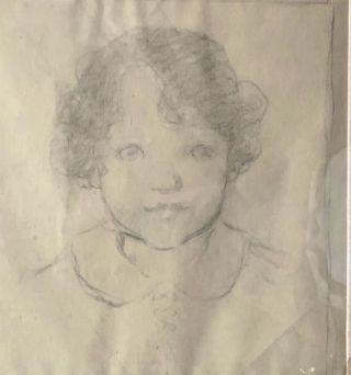 [Smith, Jessie Willcox- Early Study of Young Girl. Jessie Willcox Smith.