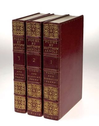 Binding, Fine- Doves Bindery] Three Volumes: Early and Narrative Poems and Sonnets (1895); Lyric...