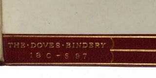 [Binding, Fine- Doves Bindery] Three Volumes: Early and Narrative Poems and Sonnets (1895); Lyric and Elegiac Poems (1895); Dramatic and Later Poems (1895)