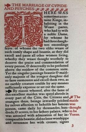 [Binding, Fine- Arts & Crafts by Bumpus of Oxford, Vale Press] The Pleasant & Delectable Tale of the Marriage of Cupide and Psyches