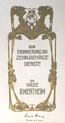 [Art Nouveau Luxury Photo Album] 1904, Wertheim Department Store