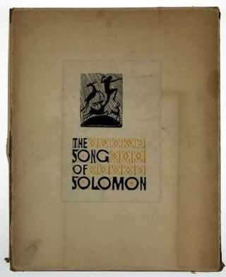 Centaur Press- In Original Glassine and Printed Box, Signed by Artist Esherick] Song of Solomon