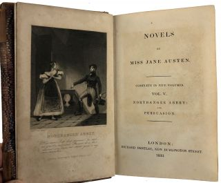 [Austen- Five Volumes, Six Novels. Bentley Editions- Association Copy, Owned by Jane Austen's Favorite Niece] Novels: Sense and Sensibility; Pride and Prejudice; Emma; Mansfield Park; Northanger Abbey and Persuasion.