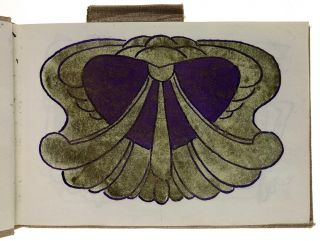 [Waller, Pickford- A Watercolor Sketch Book Completely Drawn with Art Nouveau and Interpretive Design in Many Colors] Sketchbook of Art