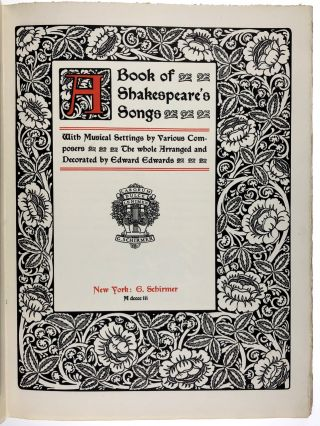 [Arts & Crafts] A Book of Shakespeare's Songs
