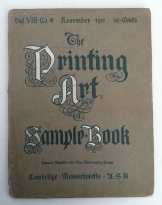 [Smith, Jessie Willcox] The Printing Art Sample Book. anon.