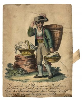 "Billet- Movable, Hand-colored] ""I wish you good luck, a good conscience..."" Billet"