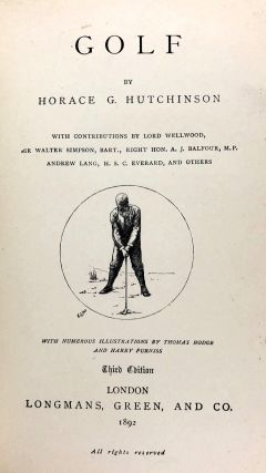 [Fore-Edge Painting- Martin Frost] Golf; The Badminton Library