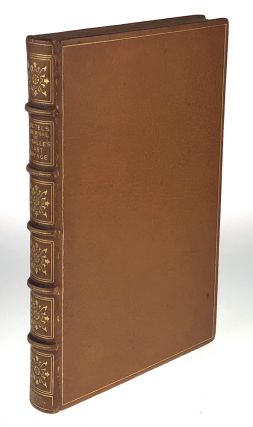 Binding, Fine- Club Bindery- Bound in 1898, One of Three Copies on Japan Vellum, Specially bound...