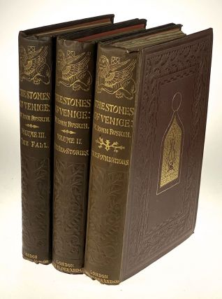 Ruskin, John- Earliest First Edition, Issue, Stunning Original Cloth, Fine] Stones of Venice....