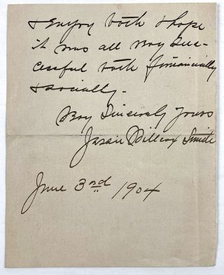 [Smith, Jessie Willcox- ALS] Autograph Letter Signed from Jessie Willcox Smith on Red Rose Stationary
