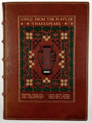 Binding, Fine- Unsigned, Possibly Cedric Chivers ] Songs From the Plays of Shakespeare. William...