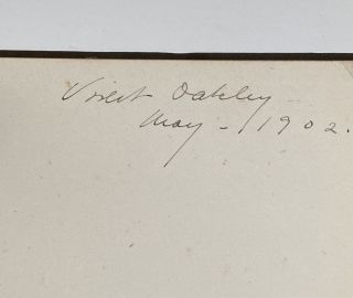 [Violet Oakley Interest- Inscribed by Oakley to Edith Emerson- Two Books] Church Manual of the First Church of Christ Scientist, In Boston Mass. 1902 [together with] The 1912 Edition.