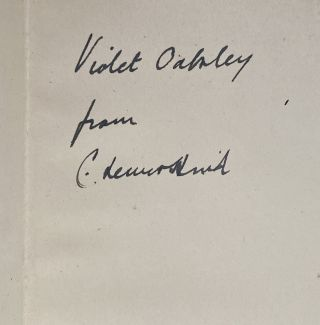 "[Violet Oakley Interest- Three Books Inscribed to Oakley by the Authors] ""Things Seen in America,"" by C. Lewis Hind; ""The Colour of Youth,"" by V. H. Friedlaender; ""Verses,"" by L.R.J. (Lucy Jackson)"