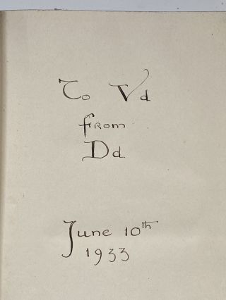 Violet Oakley Interest- Inscribed by Edith Emerson to Violet Oakley] The City of God. Saint...