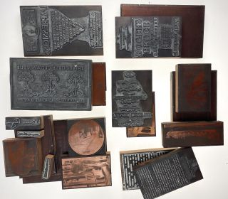 Rogers, Bruce- Amazing Collection of 20 Original Printing Plates] Twenty Original Plates from the...